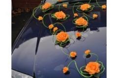 decoration-voiture-mariage-vert-et-orange